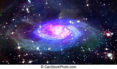 przestrzeń, błękitny, galaktyka