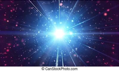 przestrzeń, gwiazdy, cząstka