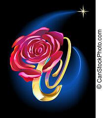 przestrzeń, róża
