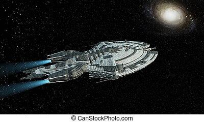 przestrzeń statek