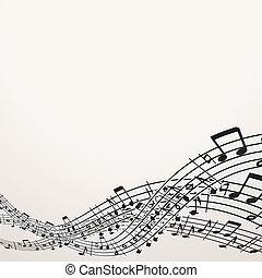 przestrzeń, wizerunek, wolny, tło., wektor, muzyczny