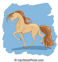 przestylizowany koń, rysunek