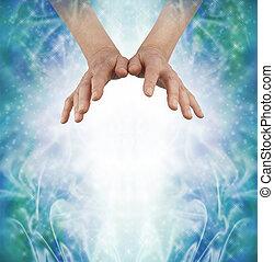 przesyłka, energia, poza, kochający