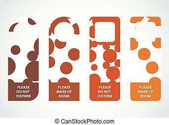 przeszkadzać, wieszak, drzwi, kropkowany, hotel, projektować...