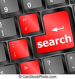 przetrząśnięcie internetu, pojęcie, z, komputerowa klawiatura, guzik