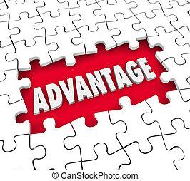 przewaga, przeszkoda, zagadka, konkurencyjne ostrze, przewodnictwo, położenie, otwór, kawał