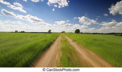 przez, łąka, droga