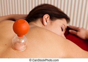 przez, odpoczynek, masaż, złagodzenie