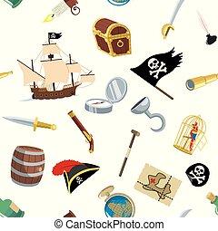 przybory, pirat, próbka