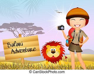 przygoda, safari