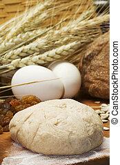 przygotowując, bread, nieruchome życie