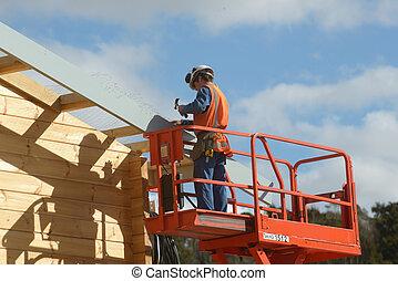 przygotowując, dach