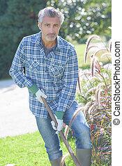 przygotowując, ogród