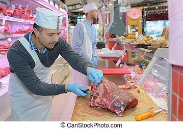 przygotowujące mięso