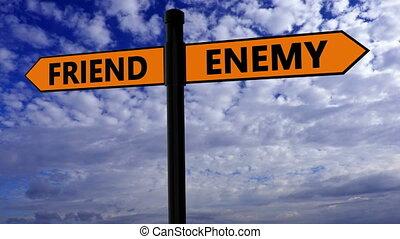 przyjaciel, drogowskaz, nieprzyjaciel, pojęcie