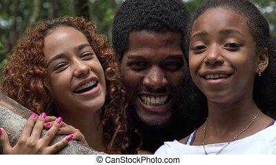 przyjaciele, albo, rodzina, afrykanin