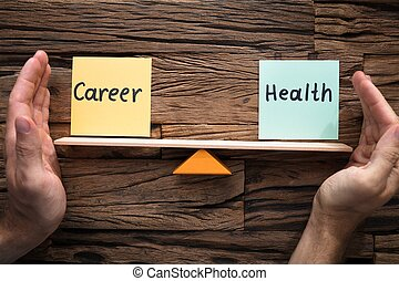 przykrycie, kariera, między, huśtać się, zdrowie, siła robocza, waga