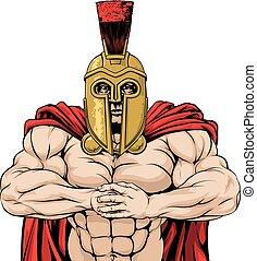 przynosić, spartan, to, maskotka