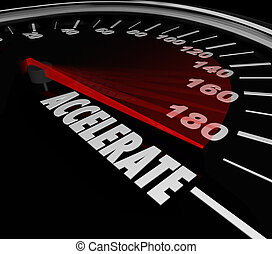 przyspieszać, słowo, szybkościomierz, mocniejszy, szybkość,...