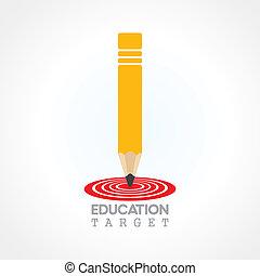 przyszłość, wykształcenie, ognisko, concep, albo