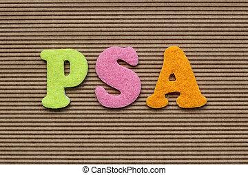 PSA (Prostate-specific antigen) medical concept