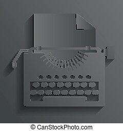 psací stroj, vektor