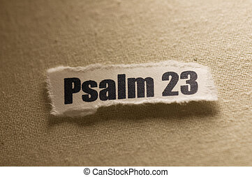 Picture of a paper with psalms 23 written on it.
