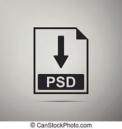 psd, bestand, document, icon., downloaden, psd, knoop,...