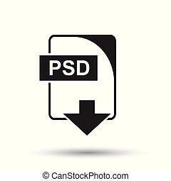 psd, icon., plat, vector, illustration., psd, downloaden,...