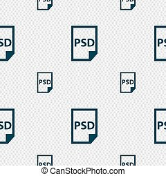 psd, pictogram, teken., seamless, model, met, geometrisch,...