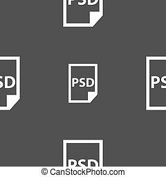 psd, pictogram, teken., seamless, model, op, een, grijs,...