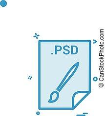 psd, toepassing, downloaden, bestand, archief, formaat,...