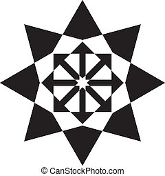 pseudo, symbole, noir, étoile