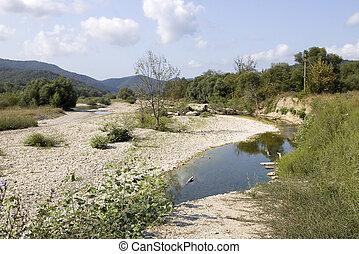 Pshada river in Caucasus