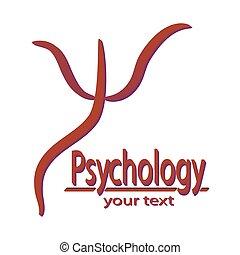 Psi Greek letter symbol. Inscription Psychology and space ...