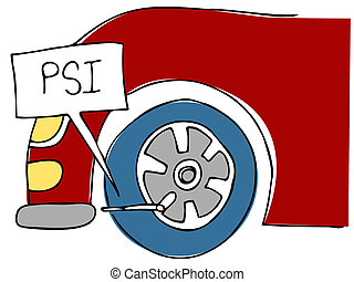 PSI Tire Pressure - An image of a PSI tire pressure.
