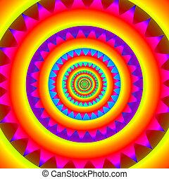 psicodélico, círculos concéntricos, resumen, arco irirs,...