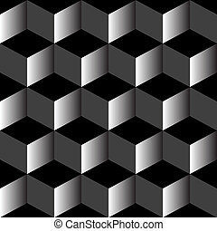 psicodélico, patrón, mezclado, negro