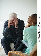 psicológico, pensionista, ajuda