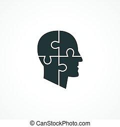 psicología, icono