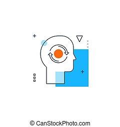 psicología, introversión, rasgo, concept., filosofía, humano, personalidad