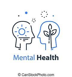 psicología, psicoterapia, humano, o, estima, concepto, sí ...