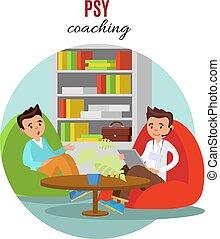 psicologico, addestramento, concetto, colorito