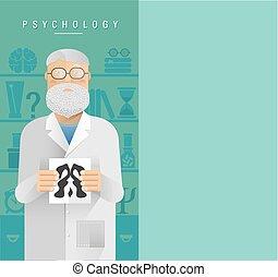 psicologo, adulto, glasses., uomo