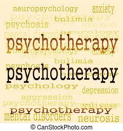 psicoterapia, conceito, fundo