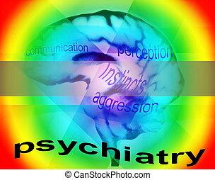 psiquiatría, concepto, plano de fondo
