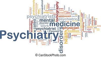 psiquiatria, conceito, fundo