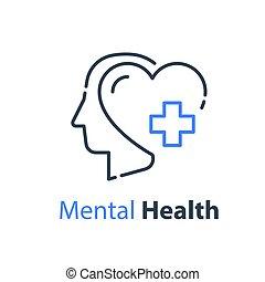 psiquiatria, saúde mental, cabeça humana, conceito, ajuda, psicológico