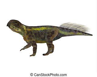 Psittacosaurus Dinosaur Side Profile - Psittacosaurus was a...