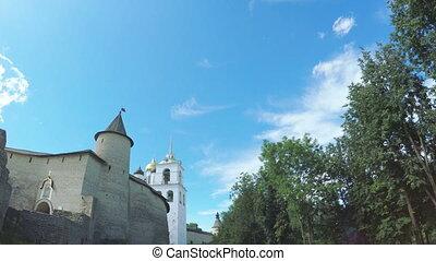 Pskov Kremlin in summer